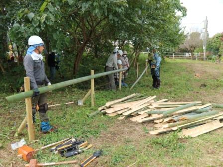 竹垣づくり